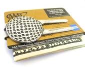Golf Money Clip- Golf Divot Tool Money Clip- Golfer's Money Clip- Sterling Silver Finish- Cool Gifts For Men