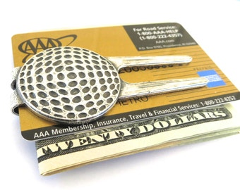 Golf Money Clip- Golf Divot Tool Money Clip- Golfer's Money Clip- Sterling Silver Finish- Cool Gifts For Men