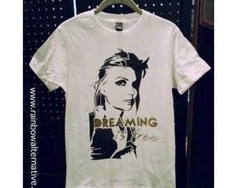 Blondie t shirt Debbie Harry stencil t-shirt spray paint by Rainbow Alternative