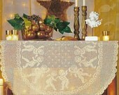Crocheted Tablecloth - Angels dance free shipping