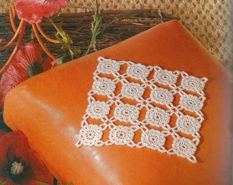 Crocheted Doily - Poppy free shipping