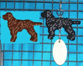 Curly-Coated Retriever crate tag - dog art accessory hang anywhere decor ornament, magnet option, Choose your color