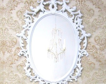 shabby chic mirror for sale yellow framed mirror