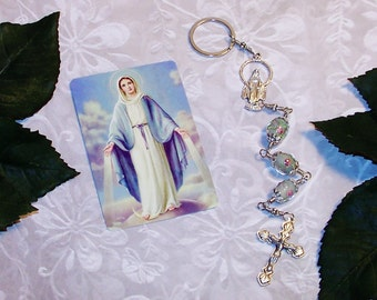 Unbreakable One-Minute Traffic Rosary - Catholic Chaplet - Our Lady of Grace Car Rosary - Key Ring Catholic Rosary - Commuter Rosary
