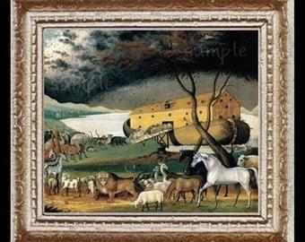Noahs Ark Miniature Dollhouse Art Picture 6617