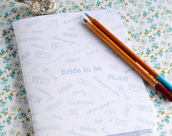 Bride Notebook - Bride To Be - Wedding Planner - Engagement Gift - Eco Friendly Stationery
