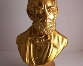 Vintage 1979 President Abraham Lincoln Avon Deep Woods After Shave Bottle Gold Bust With Box Abraham Lincoln Home Decor