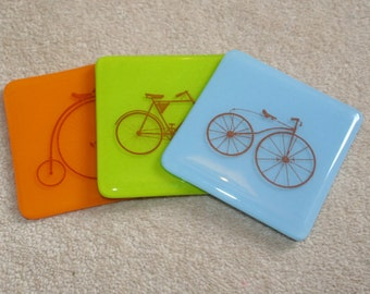 I Want To Ride My Bicycle - Classic Bike Silhouette Coasters