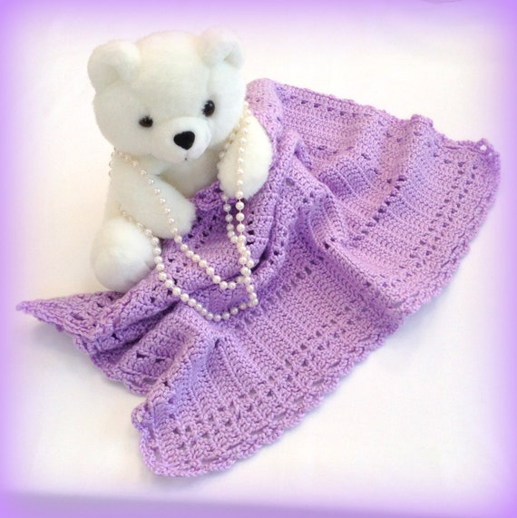Crochet Blanket, Photography Prop, Car Seat Blanket, Baby Blanket, Baby Girl Blanket,Baby Afghan,Purple,Crochet Photo Prop,Infant Photo Prop