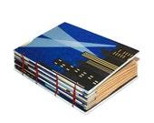 Art Journal, Blank Sketchbook, Travel Log Journal, Hostess Gift, Christmas Gift, Super Hero, Comic Book, Coptic Bound Book
