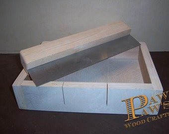 9 bars  wooden soap mold  , & galvanize cutter