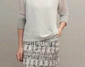 SALE...Basketcase Skirt Vintage Print Cotton....limited stock