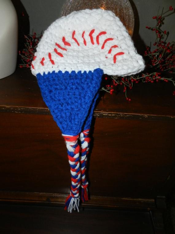 6 - 12 mo. Blue Flap Baseball Hat
