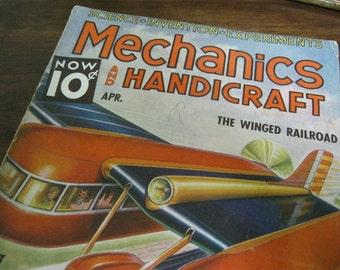Vintage Mechanics and Handicraft Magazine 1937