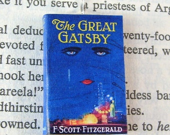 Miniature Book Necklace Charm The Great Gatsby