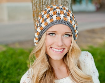 Crochet Pattern, Slouch Hat, Clementine Pattern - Instant Download