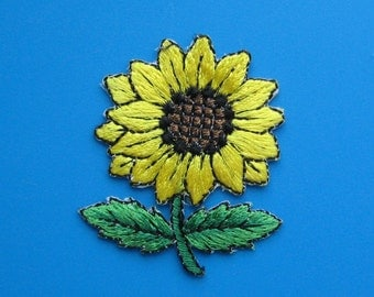 Iron-On embroidered Patch SUNFLOWER 2.1 inch