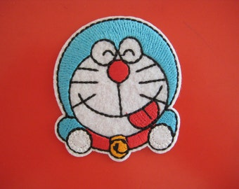 Iron-on Embroidered Patch Doraemon 2.25 inch
