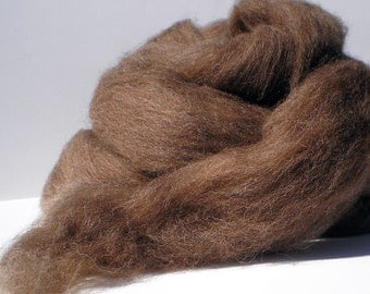 Moorit Shetland Combed Top for Spinning or Felting  4 oz.