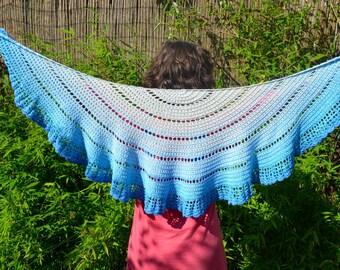 Crochet pattern : walking on clouds shawl