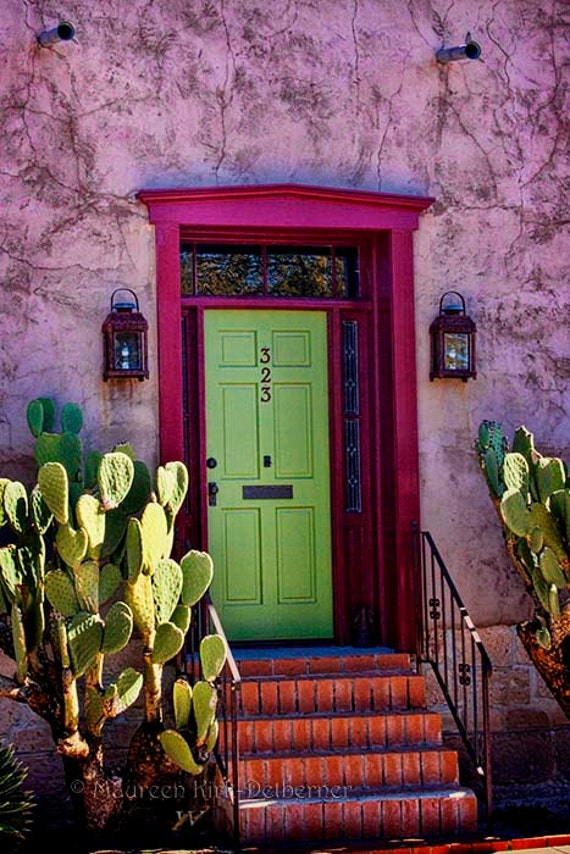 Art print photo art Mexican home decor green pink