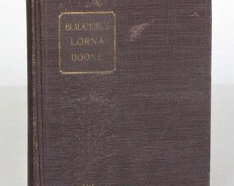 Lorna Doone a Novel by Richard Doddridge Blackmore