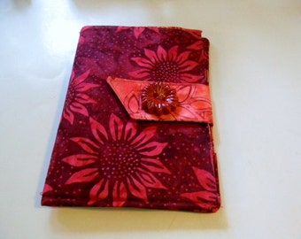 Red Sunflower Batik Kindle Fire/Kindle Keyboard/Kindle Fire HD Cover