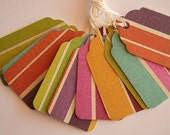 Colorful Bold Striped Gift Tags (10)