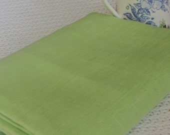 Pure LINEN fabric Pistachio green eco friendly sewing supplies home decor from MyGypsyCottage on Etsy