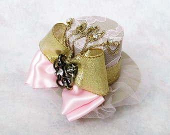 Miniature Collectible Mad Hatter Hat Mini Top Hat Bridal Shower Birthday Tea Party Accessory