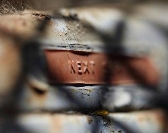 Rusty Car Dashboard, Next Service, Photography Art