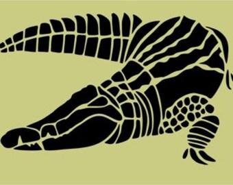 Alligator Stencil   10 X 6