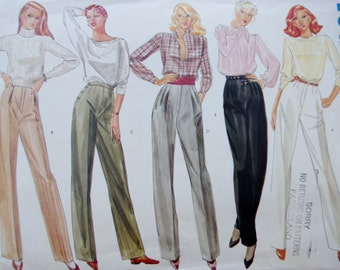Vintage Vogue Basic Design 2760, 80s Pants, 1980s Straight Leg Pants, Pants Sewing Pattern, Vogue Sewing Pattern, XS Small Waist 24