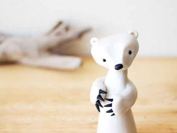 Polar Bear Figurine with Fierce Claws by Bonjour Poupette