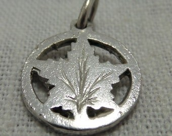 CANADIAN MAPLE LEAF  Sterling Silver Charm -Canadian- Canada