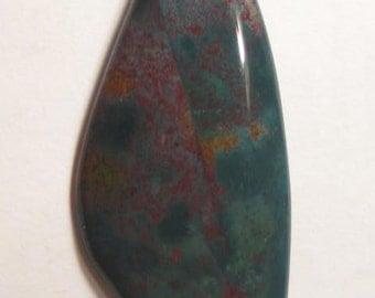 Bloodstone  bead  .......         52 x 22 x 4 mm ......   a4880
