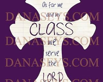 Teacher Christian Cross for Digital Download