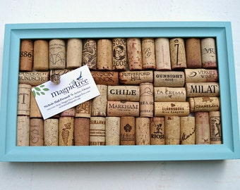 Wine Cork Board in Robin's Egg Blue - perfect for your Wedding Reception