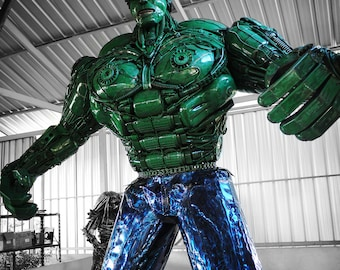 3.3m Height Recycled Metal Green Giant (made-to-order)
