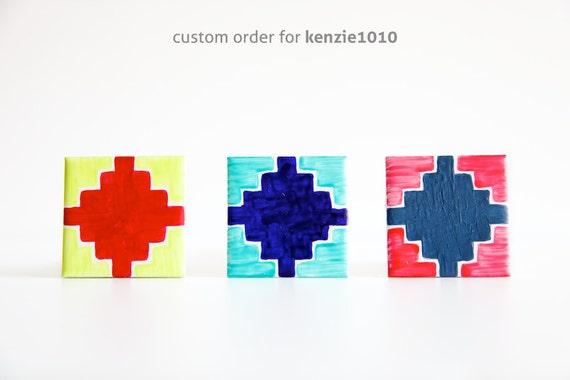 Hand Painted Ceramic Tile - Custom Order for kenzie1010