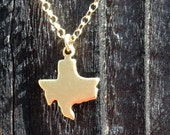 Tiny Texas Brass Necklace