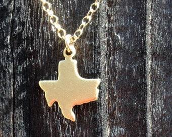 Tiny Texas Brass Necklace