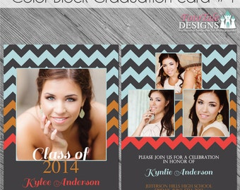 INSTANT DOWNLOAD - Color Block Grad Ann 1- custom photo templates for photographers on Whcc and ProDigitalPhotos Specs