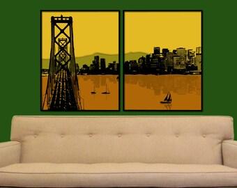 Tales of San Francisco Split Digital City Wall Art