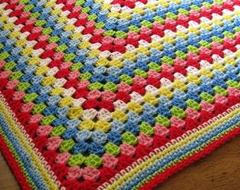 Granny Square Crochet Blanket Cath Kidston Colours