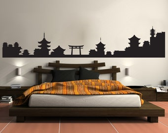 Vinyl Wall Decal Sticker Japan Architecture Silhouette 1438m