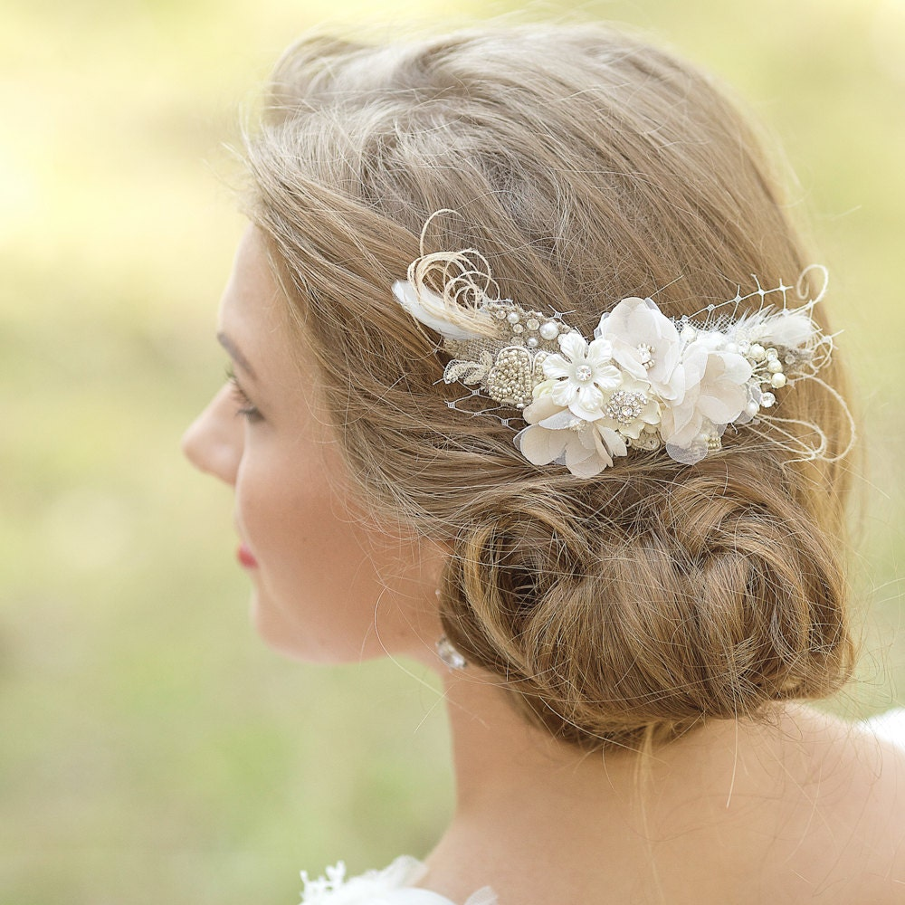 wedding hair accessories bridal headpiece rustic hairpiece