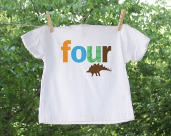 Birthday Dinosaur Tee with Number - TW
