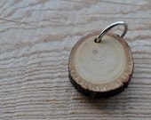 linden wood keychain •  rustic wood linden keyring  • wood necklace