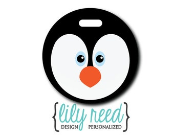 Penguin....Personalized Luggage Bag Tag
